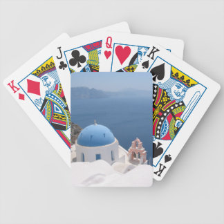 Santorini Greece Bicycle Playing Cards