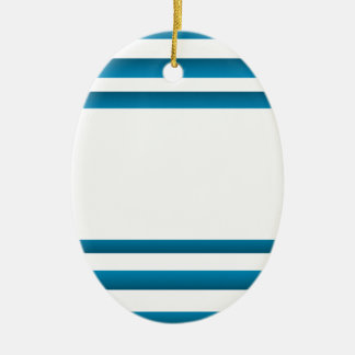 Santorini Greece Blue Design Christmas Ornament