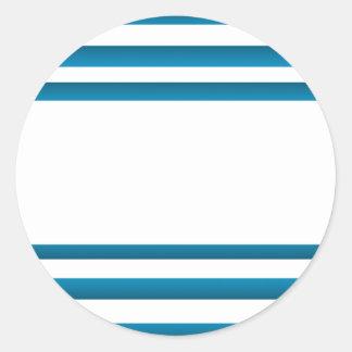 Santorini Greece Blue Design Classic Round Sticker