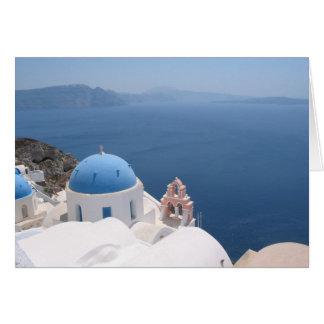 Santorini Greece Card
