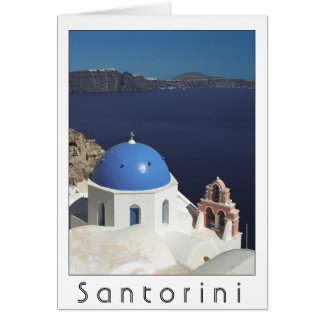 Santorini Greece card blank inside