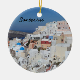 Santorini, Greece Christmas Ornament