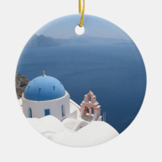santorini greece christmas ornament - Greek Christmas Decorations