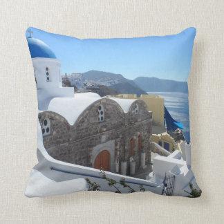 Santorini, Greece Cushion