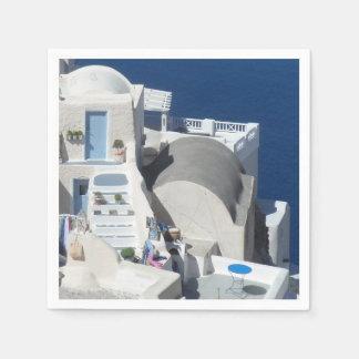 Santorini, Greece Disposable Napkins