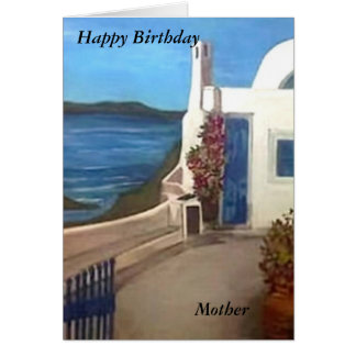 Santorini, Greece - Happy Birthday Card