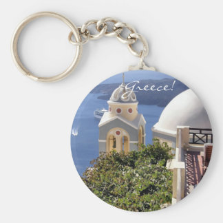 Santorini, Greece Key Ring