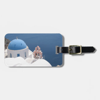 Santorini Greece Luggage Tag