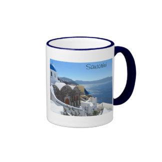 Santorini, Greece Ringer Mug