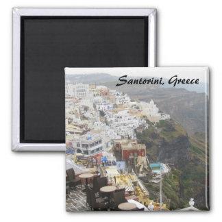 Santorini, Greece Square Magnet