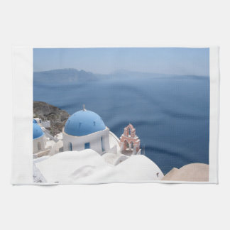 Santorini Greece Tea Towel