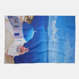Santorini, Greece - View from Oia Kitchen Towel
