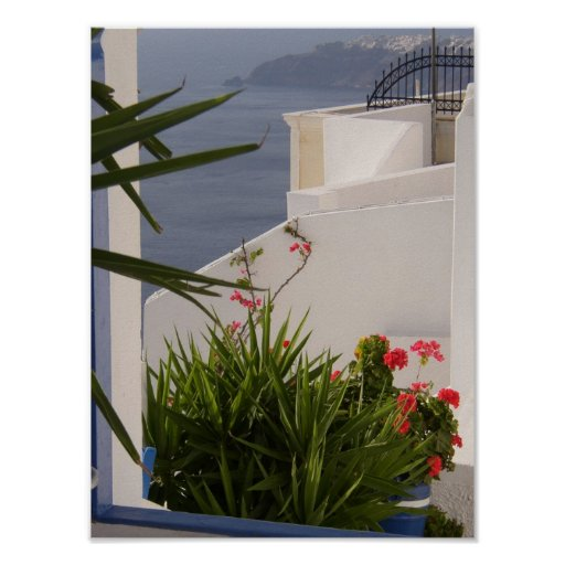 Santorini Greek Islands Poster