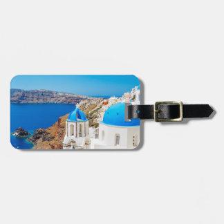 Santorini Island - Caldera, Greece Bag Tag
