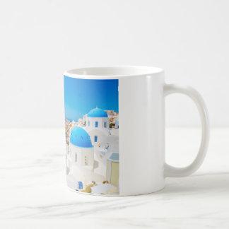 Santorini Island - Caldera, Greece Basic White Mug