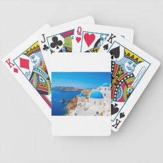 Santorini Island - Caldera, Greece Bicycle Playing Cards