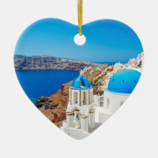 Santorini Island - Caldera, Greece Christmas Ornament