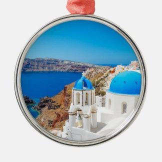 Santorini Island - Caldera, Greece Christmas Ornament