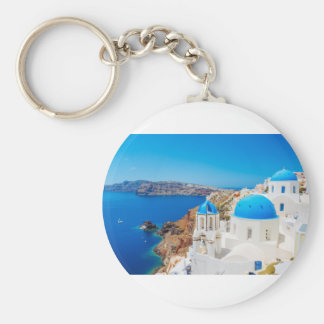 Santorini Island - Caldera, Greece Key Ring