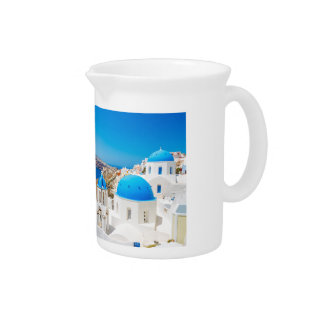 Santorini Island - Caldera, Greece Pitcher