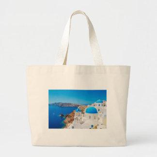 Santorini Island - Caldera, Greece Jumbo Tote Bag