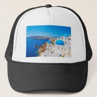 Santorini Island - Caldera, Greece Trucker Hat