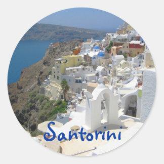Santorini island Greece Classic Round Sticker