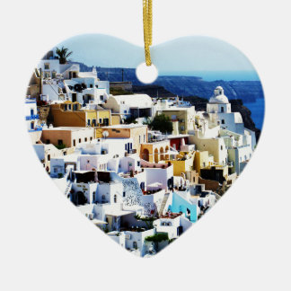 Santorini Island in Greece PHOTO Christmas Ornament