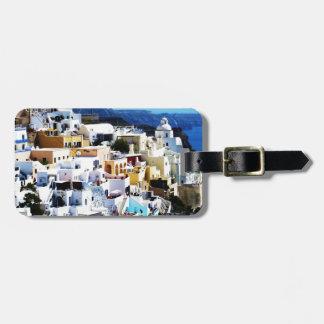 Santorini Island in Greece PHOTO Luggage Tag