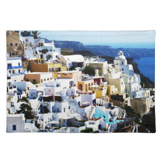 Santorini Island in Greece PHOTO Placemat