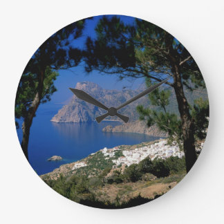 Santorini Island Large Clock
