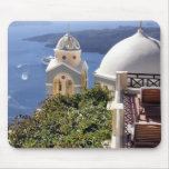 Santorini island mouse pad