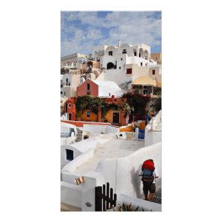 Santorini Island Thira Greece Photo Greeting Card
