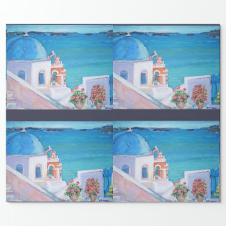 "Santorini - Matte Wrapping Paper, 30"" x 6' Wrapping Paper"