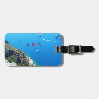santorini name luggage tag
