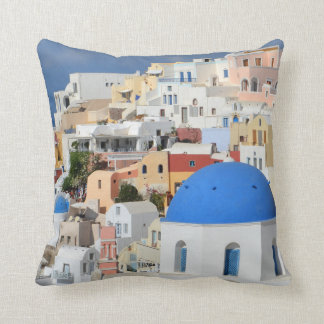 Santorini, Oia Photo Pillow