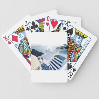Santorini Oia Steps, Greece Bicycle Playing Cards