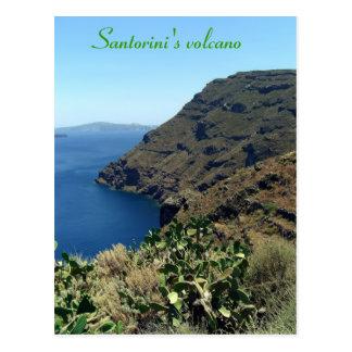 Santorini s volcano post card