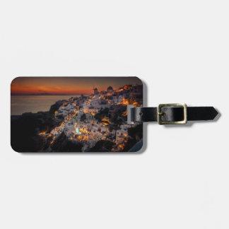 Santorini Sunset, Greece Luggage Tag