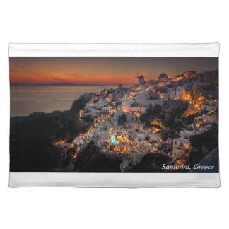 Santorini Sunset, Greece Placemat