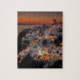 Santorini Sunset, Greece Puzzles