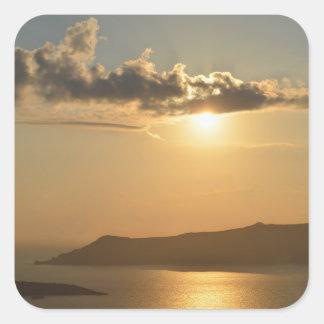 Santorini Sunset Stickers