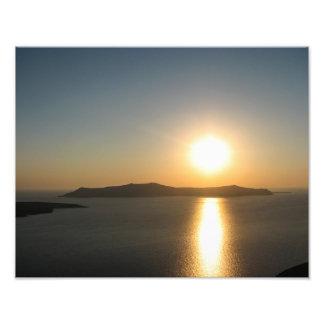 Santorini Sunset, The Greek Islands - Photo Print