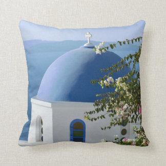Santorini Travel Throw Pillow / Cushion