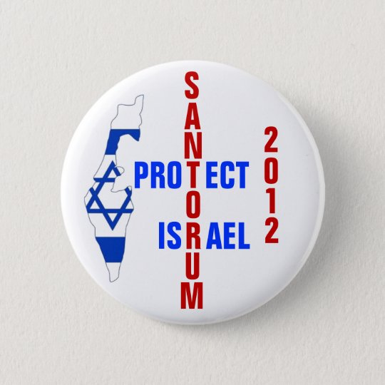 Santorum 2012 6 cm round badge