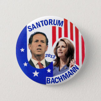 Santorum / Bachmann 2012 6 Cm Round Badge