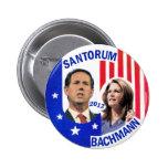 Santorum / Bachmann 2012 Pinback Buttons
