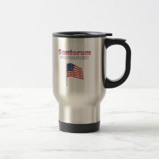 Santorum for President Patriotic American Flag Stainless Steel Travel Mug
