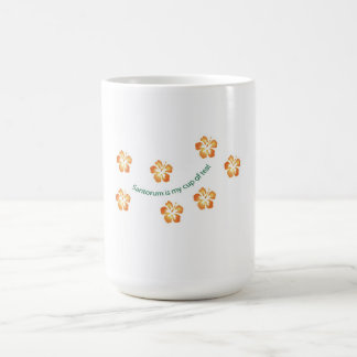 """Santorum is my cup of tea!"" Basic White Mug"