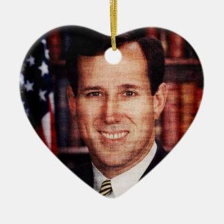 Santorum Portrait Art Photo Ornaments